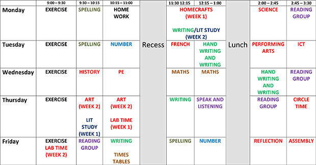 Class Timetable Body And Mind Fitness Class Timetable Class